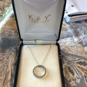 Kay Jewelers Diamond Circle Necklace